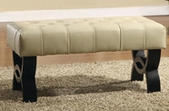 Armen Living 5012 CENTRAL PARK BYCAST LEATHER BENCH 24""
