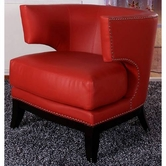 Armen Living 734 ECLIPSE FAUX LEATHER CLUB CHAIR