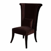 Armen Living 847 MAD HATTER BROWN OR BLACK VELVET SIDE CHAIR