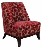 Armen Living 861 JESTER FABRIC/ CHENILLE CLUB CHAIR