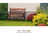 Artisan Home Furniture IFD14BENCH Antique Outdoor Bench forgen Iron & solid wood