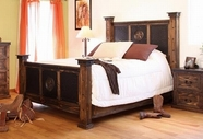 Artisan Home Furniture IFD441FTBD-HDBD-RAILS-EK Iron Star King Bed