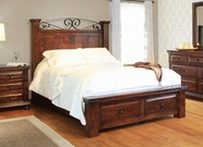Artisan Home Furniture IFD624FTBD-HDBD-RAILS-STO-EK Copan King Bed