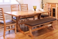Artisan Home Furniture IFD661TABLE Guamuchil 78 inch Complete Dining Trestle Table