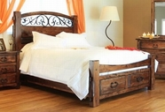 Artisan Home Furniture IFD668FTBD-HDBD-RAILS-STO-EK Antigua King Bed