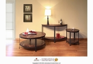 Artisan Home Furniture IFD740CKTL-END-SOFA San Cristobal Round Occasional Table Set