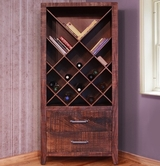 Artisan Home Furniture IFD770BKCS-WINE MONTE CARLO Bookcase & Wine Rack
