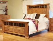 Artisan Home Furniture IFD800FTBD-HDBD-RAILS-STO-EK Stone Ridge King Bed