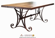 Artisan Home Furniture IFD962TABLE-MC Antique Multicolor 79 inch Dining Table w/Iron Base