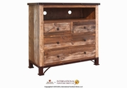 Artisan Home Furniture IFD966CHEST-TV Antique 4 Drawer Media Chest
