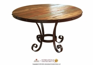 Artisan Home Furniture IFD967TABLE-B-T Antique Round dining table