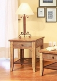 Artisan Home Furniture IFD968CST Antique Multicolor All Wood Chair side Table w/1 drawer