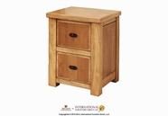 Artisan Home Furniture LHR100FILE Lodge 2 drawer file cabinet (fits both letter & legal sizes)