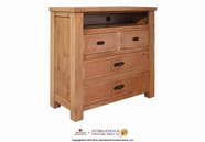 Artisan Home Furniture LHR101CHEST-TV Lodge 4 Drawer Media Chest