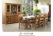 Artisan Home Furniture LHR101TBL-B-T-104CHR-S Lodge Dinning Set
