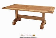 Artisan Home Furniture LHR101TBL-B-T Lodge Trestle Table