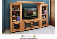 Artisan Home Furniture LHR106BRIDGE-STAND-PIER-L-R Lodge Entertainment Center