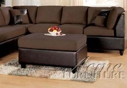 Ashland Chocolate Ottoman - Acme 10112