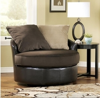 Ashley Gemini - Chocolate 1120044 Round Swivel Chair