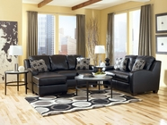Ashley Devin Durablend-Black 1310218-35 Sofa Chaise And Loveseat Set