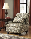 ASHLEY Davora - Caramel 1400146 ARMLESS CHAIR