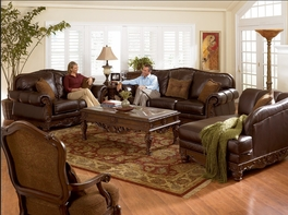 ASHLEY 22603 North Shore Leather Sofa Set