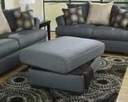 ASHLEY Mindy - Indigo 3950011 OTTOMAN w/ Storage