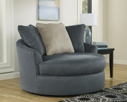 ASHLEY Mindy - Indigo 3950021 OVERSIZED ROUND SWIVEL CHAIR