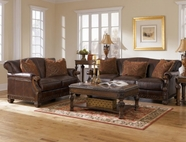 ASHLEY 40200 Oakmere-Truffle Leather Sofa Set