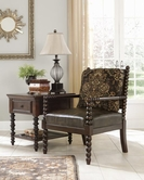 ASHLEY 4100160 Glynallen - Teak SHOWOOD ACCENT CHAIR