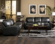 ASHLEY 41701 Novack-Onyx All Leather Sofa Set