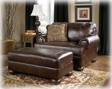 Ashley Axiom - Walnut 4200014 Ottoman