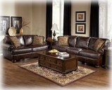 Ashley Axiom - Walnut 4200035 Loveseat