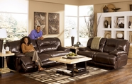 Ashley  4240147-74 Exhilaration Chocolate Reclining Sofa Set with power