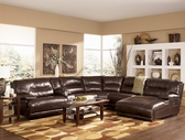 Ashley 42401 Exhilaration Chocolate Contemporary Leather Sectional