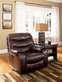 Ashley Rourke - Burgundy 4280098 Rocker Recliner w/ Power