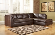 ASHLEY 4480066-17 DuraBlend-Mahogany Right Corner Chaise Sectional