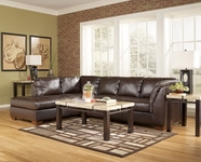 ASHLEY 4480067-16 DuraBlend-Mahogany Left Corner Chaise Sectional