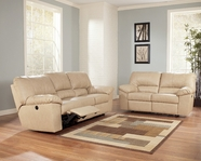 Ashley 4540188-86 DuraBlend Natural Reclining Living Room Set