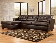 ASHLEY 5240067-16 Dixon DuraBlend-Chocolate Left Corner Chaise Sectional