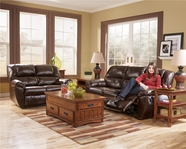 Ashley 5300087-74 DuraBlend Mahogany Living Room Group with power