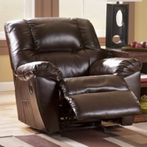 Ashley Rouge DuraBlend - Mahogany 5300098 Rocker Recliner w/ Power