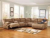 ASHLEY 5780207-19-40-46-77 Hogan-Mocha Reclining Sectional