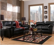 ASHLEY 64500 Commando-Black Leather Sofa Set