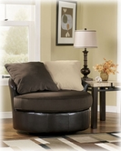 Ashley Vivanne - Chocolate 7041544 Round Swivel Chair