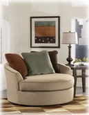 Ashley Laken - Mocha 7070421 Oversized Round Swivel chair