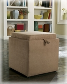 Ashley Cubit - Mocha 7490311 Ottoman w/Flip Top, 1 cube inside