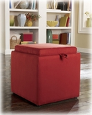 Ashley Cubit - Salsa 7490411 Ottoman w/Flip Top, 1 cube inside