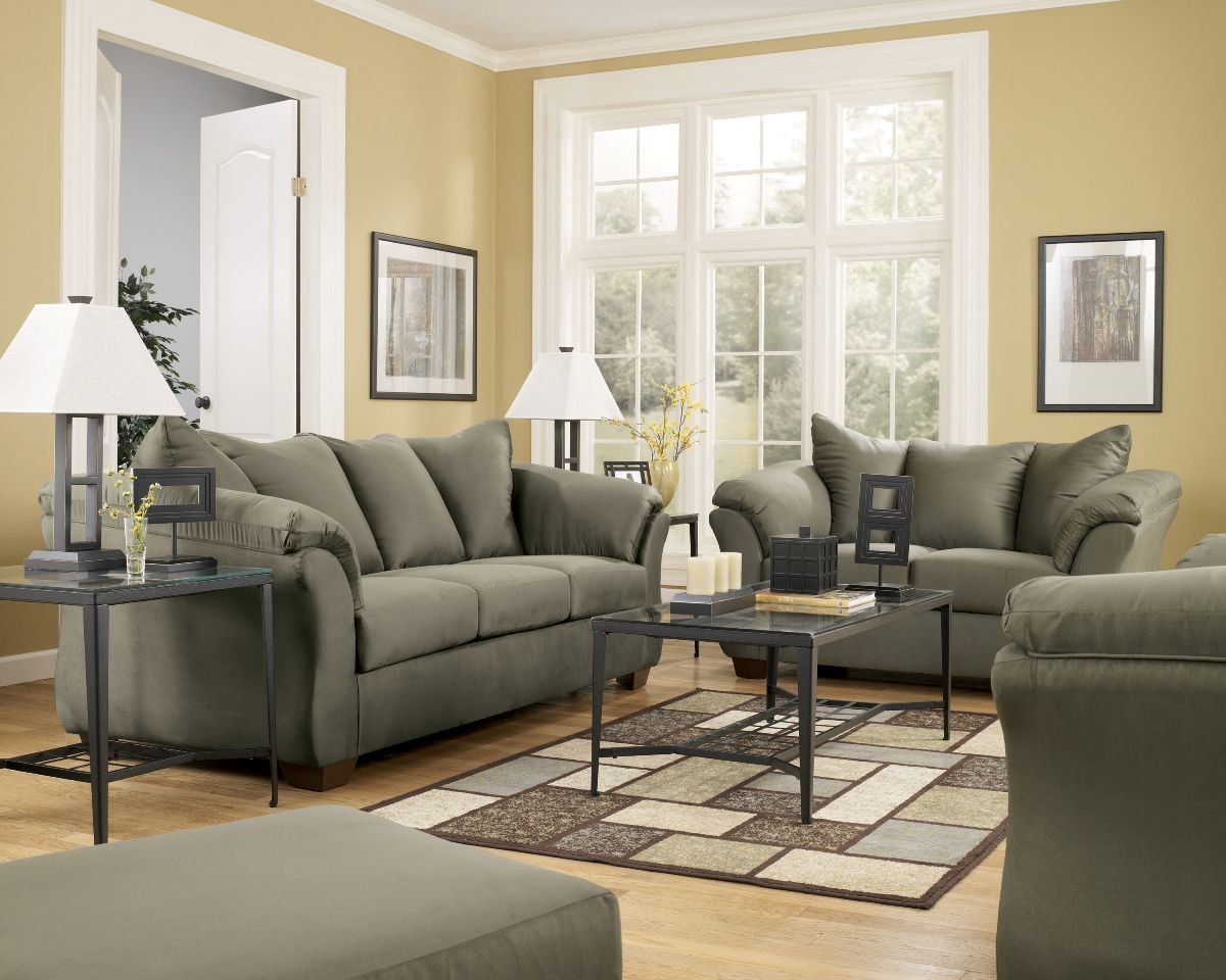 Your darcy sage living room set accent chairs ashley furniture darcy