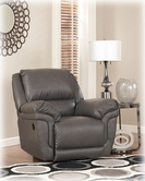 Ashley Magician DuraBlend - Slate 7610225 Rocker Recliner